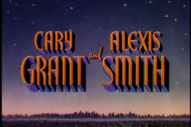 Excellent. What a great night this is going to be! Alexis Smith, what else is she in? Better Google...oh, born in Canada. One of us. Neat.