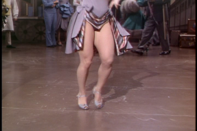"That 1940's dance dress known as the ""crotch window dressing."""