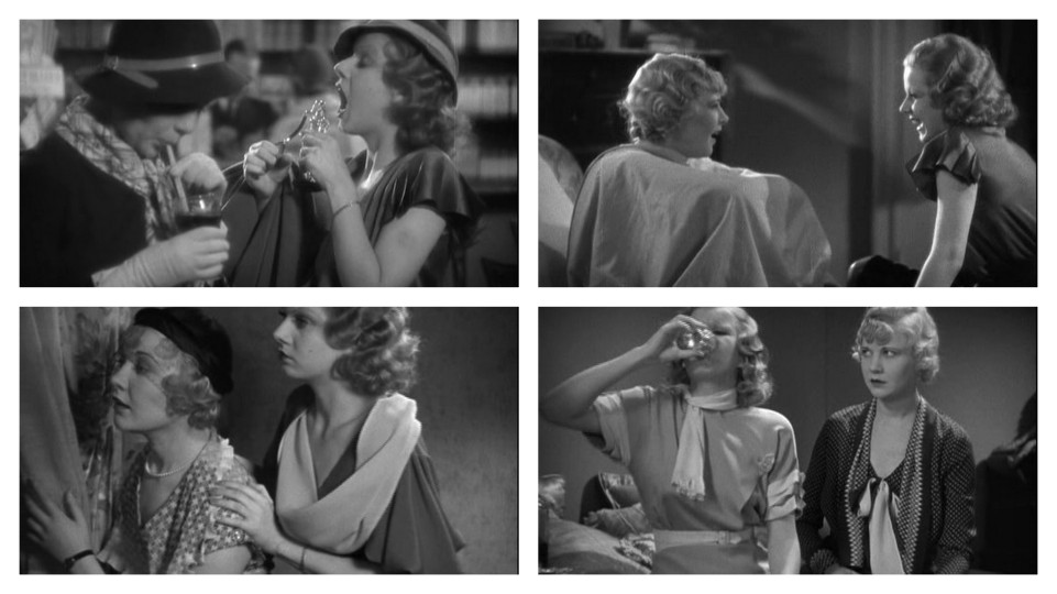 Jean Harlow and Una Merkel in Red Headed Woman (1932), Dir. Jack Conway