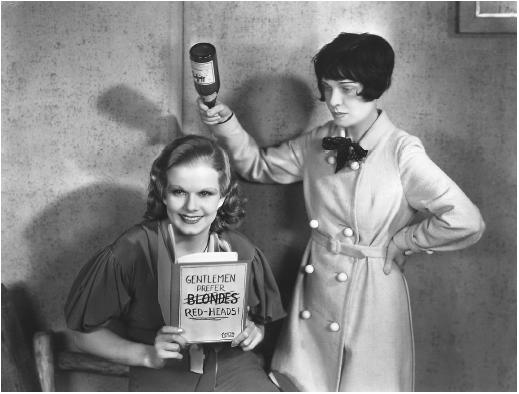 Jean Harlow and Anita Loos
